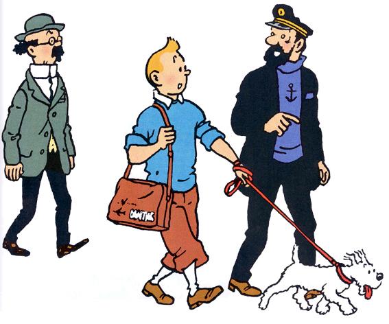 Tintin Milou Haddock Tintin Milou Tournesol et